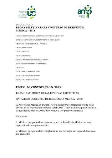 edital - Associação Médica do Paraná