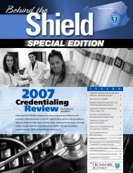 Credentialing Information - Highmark Blue Shield