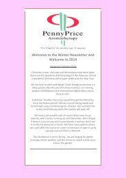 Newsletter - Penny Price Aromatherapy