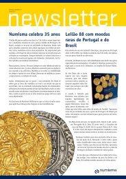 Numisma celebra 35 anos Leilão 88 com moedas ... - Numismatas