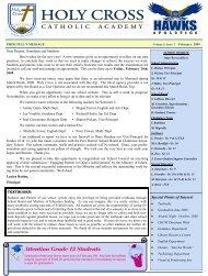 Newsletter February 2009.pub - Holy Cross Catholic Academy