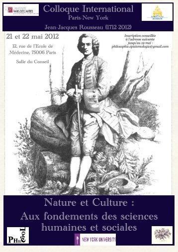 Colloque International Paris-New York. Nature et Culture
