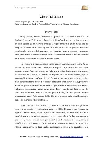 Zizeck, El Gozoso - Eikasia. Revista de Filosofía