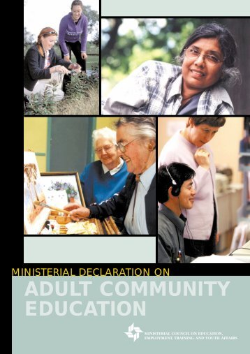 ADULT COMMUNITY EDUCATION - Ministerial Council for ...