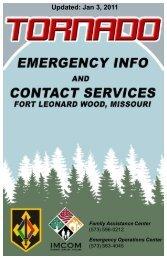 Updated: Jan 3, 2011 - MWR Fort Leonard Wood