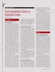 First Amendment Claims in Disparate Cases - National Association ...