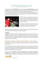 Présentation de la Plasturgie en Lorraine - Inffolor