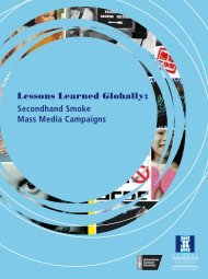Lessons Learned Globally - Campaign for Tobacco-Free Kids
