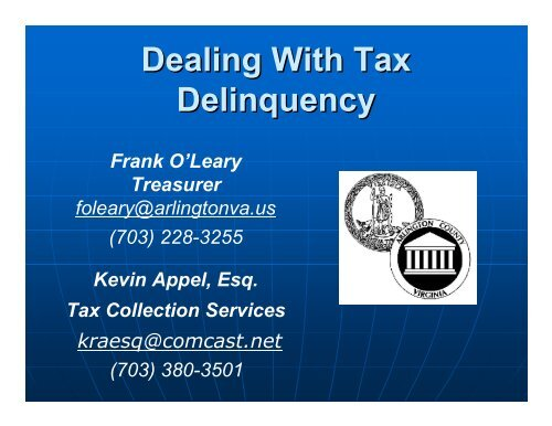 Dealing With Tax Delinquency