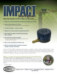 IMPACT Sampler Spec. Sheet (PDF) - SKC Inc.