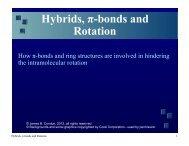 Hybrids, π-bonds and Rotation
