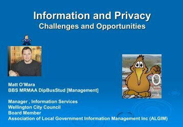 Information and privacy: Challenges and opportunities