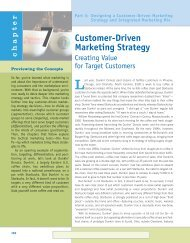 Customer-Driven Marketing Strategy: Creating Value for Target