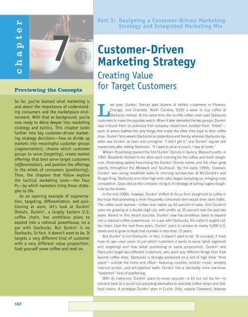 designing a customer driven strategy and mix