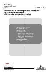 Rosemount 8732E Magnetisch induktives Durchflussmesssystem ...