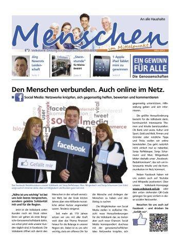 Kundenzeitschrift März 2013 - Volksbank Wipperfürth-Lindlar eG
