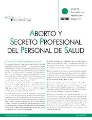 Aborto y secreto profesional del personal de salud