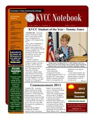 May 2013 - Kennebec Valley Community College
