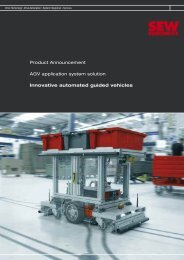 Product Announcement AGV application system ... - SEW-Eurodrive