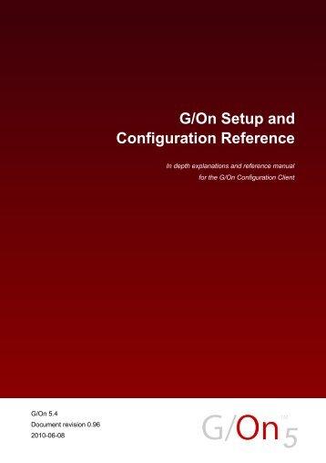 G/On Setup and Configuration Reference - Giritech.de