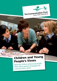 What do children and young people think about speech ... - Afasic