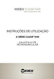 Instruções de utIlIzação - Widex