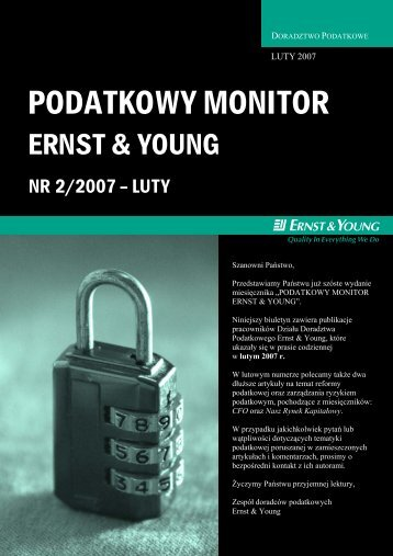 Biuletyn Podatkowy - Ernst & Young