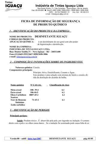 Indústria de Tintas Iguaçu Ltda