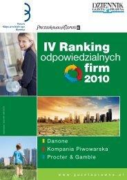 IV Ranking Odpowiedzialnych Firm 2010 - Forum ...