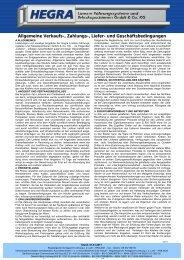 Allgemeine Geschäftsbedingungen - Hegra Linear GmbH