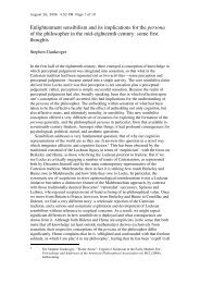 Enlightenment sensibilism and its implications for the persona of the ...