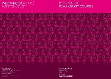 POSTGRADUATE PSYCHOLOGY COURSES