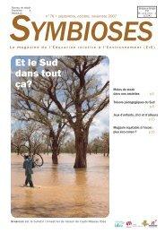 Télécharger le Symbioses entier (PDF 2,41 Mo)