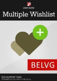 Multiple Wish List User Guide - BelVG Magento Extensions Store