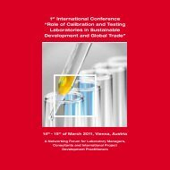 """1st International Conference """"Role of Calibration ... - Quality Austria"""