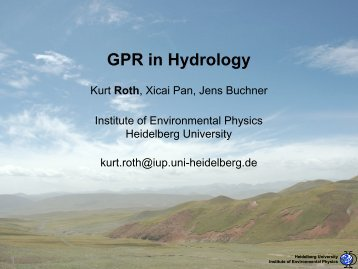 GPR in Hydrology
