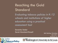 Evaluating tobacco policies in K-12 schools and institutions of ...