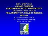 Preliminary TDA, Project Design & PRE-SAP - Large Marine ...