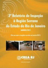 3º Relatório de Inspeção à Região Serrana do Estado do ... - Crea-RJ