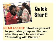 Presenting with Pizzazz. - Sharon Bowman