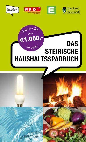 das steirische haushaltssparbuch - Wasserwirtschaft - Steiermark