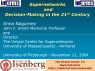 Supernetworks and Decision- Making in the 21st Century