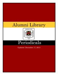 Alumni Library Periodicals - Wentworth Institute of Technology