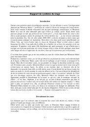 Rapport de synthèse du stage - HEMU