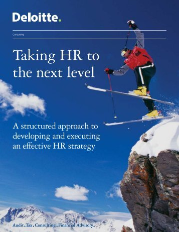 Taking HR to the next level - Deloitte