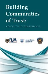 Building Communities of Trust: A Guidance for Community