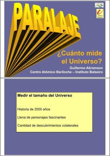 C á t id ¿Cuánto mide el Universo? el Universo?