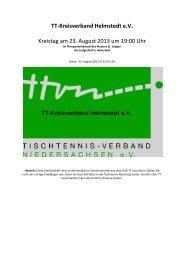 Berichtsheft - Tischtennis-Kreisverband Helmstedt eV