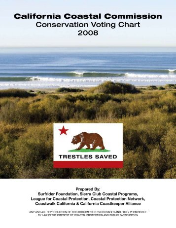 California Coastal Commission Conservation Voting Chart 2008