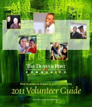 2011 Volunteer Guide - Denver Post Community